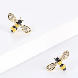 Bumble Bee Crystal Earrings